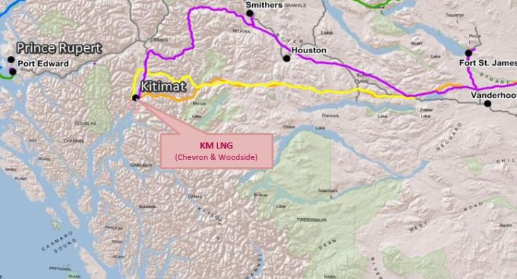 Kitimat lng map